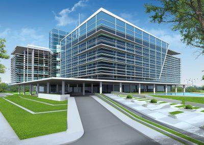 Modelado y business plan edificio de oficinas